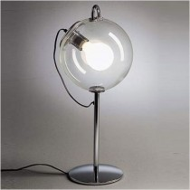 Clear Glass Chromed Base Light Lamps