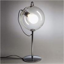 Clear Glass Chromed Base Light Lamps