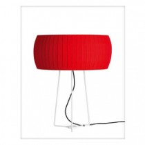 Fabric Shade Lacquered Steel Frame Light Lamps